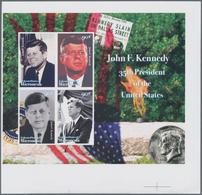 Mikronesien: 2008, John F. Kennedy Complete Set Of Four In An IMPERFORATE Sheetlet, Mint Never Hinge - Mikronesien