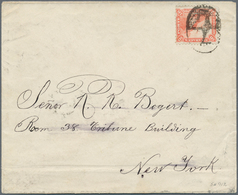 Nicaragua: 1886, 10c. Vermilion 1869-71 Issue On White Paper, Perf. 12, On Envelope Tied By Numeral - Nicaragua
