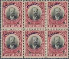 Nicaragua: 1903, Definitive Issue 'President Santos Zelaya' 1c. Emerald/black, 5c. Carmine/black (UN - Nicaragua