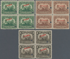 Nicaragua: 1914/1937, Definitive Issue 'Government Buildings In Managua And Cathedral In Leon' Seven - Nicaragua