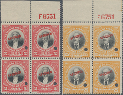 Nicaragua: 1921, Centenary Of Independence 'Prominent Persons' 2c. Red/black (Larreinaga) And 25c. Y - Nicaragua
