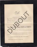 Doodsbrief Ivan ULLENS De SCHOOTEN °1837 Schoten †1894 Anvers - Château Withof, Schoten (H206) - Overlijden
