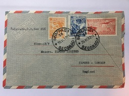 YUGOSLAVIA 1952 Air Mail Cover Belgrade To London - Storia Postale
