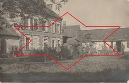 CP Photo 14-18 CANDOR (près Lassigny) - Une Maison Rue Du Tilleul, Soldats Allemands (A218, Ww1, Wk 1) - Autres Communes