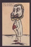 CPA JAURES Satirique Caricature Non Circulé Politique Dessin Original Fait Main - Satirical