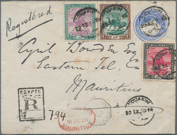 Sudan: 1898, 2 Pia Ultramarine Postal Stationery Envelope, Uprated With 2 M, 3 M And 5 M 'camel Post - Sudan (1954-...)