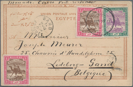 Sudan: 1899/1902, Two Viewcards Franked With Stamps Of Issue Of Camel Rider Sent To Belgium And Germ - Sudan (1954-...)