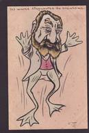 CPA JAURES Satirique Caricature Non Circulé Politique Dessin Original Fait Main Grenouille Frog - Satiriques