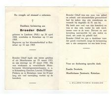 DP Broeder Odulf Geb. Lieshout (Ndl) 1888,overleden Rotselaar Kloosterkerkhof Montfortanen 1969 - Godsdienst & Esoterisme