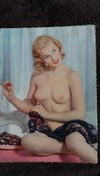 CPSM PIN UP FEMME A MOITIE NUE NU SEINS  NUS DENTELLE CHOCOLATS   ED G PICARD 218 - Pin-Ups