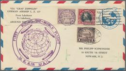 Zeppelinpost Übersee: 1929. Cover Flown On The Graf Zeppelin's USA-Germany Weltrundfahrt / Round-the - Zeppeline