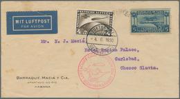 Zeppelinpost Übersee: 1930. Original Airmail Cover Flown On The Graf Zeppelin Airship's 1930 Südamer - Zeppeline