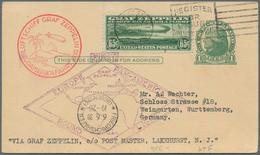 Zeppelinpost Übersee: 1930, USA, Southamerica Flight With 'Graf Zeppelin', American Post 65 C. Green - Zeppeline