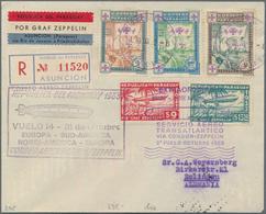Zeppelinpost Übersee: 1933, PARAGUAY, Chicago Flight With 'Graf Zeppelin', Paraguayan Post 9 And 13, - Zeppeline