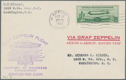 Zeppelinpost Übersee: 1933, USA, Chicago Flight With 'Graf Zeppelin', American Post 50 C. Green, One - Zeppeline