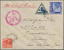 Zeppelinpost Übersee: 1936. Netherland Indies Bandoeng Cover Flown On The Hindenburg Zeppelin Airshi - Zeppeline