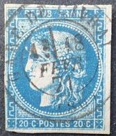 DF40266/1112 - CERES EMISSION DE BORDEAUX N°46B SUPERBE CàD : GARE DE GIVRAY 18 FEVRIER 1871 - Cote : 120,00 € - 1870 Uitgave Van Bordeaux