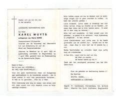 DP KAREL WUYTS Geb. Betekom 1923,invalide Mijnramp V Marcinelle,echtg.v Maria DONS,gestorven Begijnendijk 1983 - Godsdienst & Esoterisme