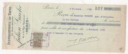 TRAITE INSTALLATIONS DE TAPIS JULIEN GACHE RUE REAUMUR PARIS 2e - 1921 - Ambachten