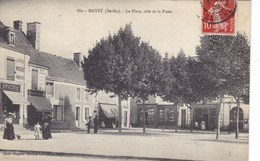 Sarthe - Mayet - La Place, Côté De La Poste - Mayet