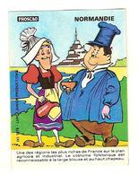 AUTOCOLLANT LES REGIONS DE FRANCE NORMANDIE - LAUREL ET HARDY - Stickers