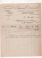 FACTURE ANTHRACITES ANGLAIS EDMOND DELOSTAL LEVALLOIS PERRET - 1921 - Elektriciteit En Gas
