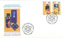 FDC Röntgen Lefkosa 2001 - Handknochen Atom Kibris Nord-Zypern - Medizin