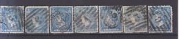 Año 1866 Edifil 81 Isabel II 7 Sellos Matasellos Varios - Used Stamps