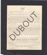 Doodsbrief Irma Van De WERVE °1884 Anvers †1933 Anvers - Marcel ULLENS De SCHOOTEN (H205) - Overlijden