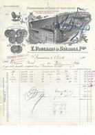 59.- ARMENTIERES  V. POUGHAIN & DECROIX  Frères  Manufacture De Toiles En Tous Genres - Kleding & Textiel