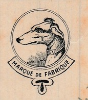 Facture 1936 / TEYSSIER / Manufacture Limes Râpes Aciers / 42 La Chambon Feugerolles / Loire / Illustrée Chien Lévrier - Frankrijk