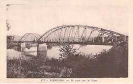GUINEE FRANCAISE - KOUROUSSA : Le Pont Sur Le Niger ( Bridge ) CPA - Afrique Noire Black Africa - Guinée Française