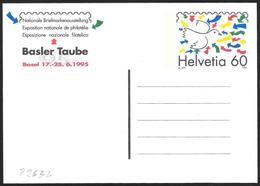 "Svizzera/Switzerland/Suisse: Intero, Stationery, Entier, ""Basler Taube '95"" - Esposizioni Filateliche"