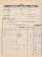 Facture 1924 / Ets DUBOUCHET / Limes & Râpes , Boulons / 58 Cosne / Nièvre - Frankrijk