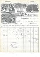 59.- ARMENTIERES  A. MAHIEU  - Filatures ; Tissage - Kleding & Textiel