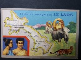 COLONIES FRANÇAISES - PUBLICITÉ ED. PRODUITS LION NOiR - CHROMO : LE LAOS - Cromos