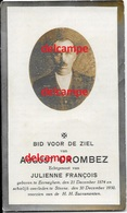 Doodsprentje August Crombez Eernegem 1874 En Overleden Te Steene 1930 Francois Bidprentje Ichtegem Koekelare - Santini