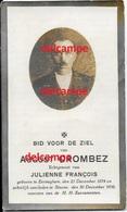 Doodsprentje August Crombez Eernegem 1874 En Overleden Te Steene 1930 Francois Bidprentje Ichtegem Koekelare - Images Religieuses