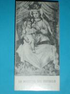 Madonna Del GHISALLO - Latte-allatta - Patrona CICLISTI Dal 1948 - MAGREGLIO,Como   - Santino Monocromo Cm.8 X 4 - Santini