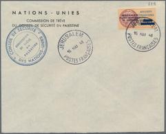 Französische Konsulatspost Jerusalem: 1948 French Consulate Jerusalem 20m. Used On Plain United Nati - Levant (1885-1946)