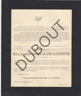 Doodsbrief Maria Joséphine Henriette ULLENS De SCHOOTEN °1846 Schoten †1933 Château Withof  (H204) - Overlijden