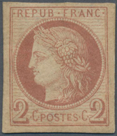 Französische Kolonien - Allgemeine Ausgabe: 1876, Ceres 2c. Red-brown, Fresh Colour, Full Margins, M - France (ex-colonies & Protectorats)