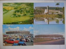 BRAZIL BRASIL - 4 POSTCARDS STADIUM ESTADIO STADE MINEIRAO IN BELO HORIZONTE 196?/197? IN THE STATE - Voetbal