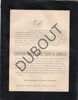 Doodsbrief Godefroid-Charles-Marie ULLENS De SCHOOTEN °1844 Schoten †1893 Château De Groenendael, Merksem  (H203) - Overlijden