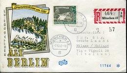 50697 Germany, Fdc 7.12.1962 Munchen  Registered Cover  Mi-229 - [5] Berlín