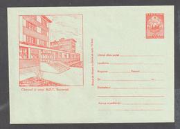 Rumänien Romania Stationery Cover 1955 Unused Very Rare- 205       Red On Blueish Paper, Big Flap - Ganzsachen