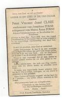 DP Peter Vincent CLAES Geb. Mol 1908,wedn.v Josephina STANS,echtg.v Maria An.STANS Aarschot,gefusilleerd 1943 Te Antwerp - Godsdienst & Esoterisme