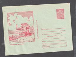 Rumänien Romania Stationery Cover 1957 Unused Very Rare- 210   Red On Light Greenish Paper - Ganzsachen