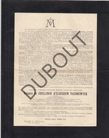 Doodsbrief Amaury De GHELLINCK D'ELSEGHEM VAERNEWYCK °1851 Gent †1919 Bxl, Senator - Burgemeester Elsegem (H200) - Overlijden