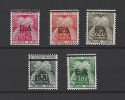 ALGERIE.  YT  Timbres Taxe  N° 54/58  Neuf **/*  1962 - Algerien (1962-...)